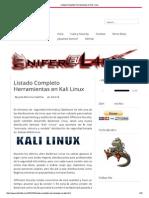 Herramientas en Kali Linux