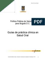 Guias de Practica Clinica en Salud Oral