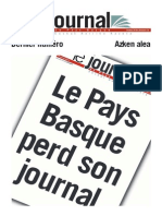 Le Journal Du Pays Basque