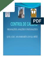 control de calidad de laboratorio