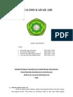 Paper Analisis Kadar Air