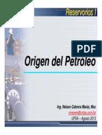 UPSA_RESI102_Origen Del Petroleo y Ubicacion de Pozos