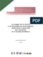 La imagen de la ciencia y la tecnología en la divulgación audiovisual transmitida por televisión en la Ciudad de México