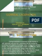 BSN III 5 C 4 Corneal Laceration John Kelvin Malabanan