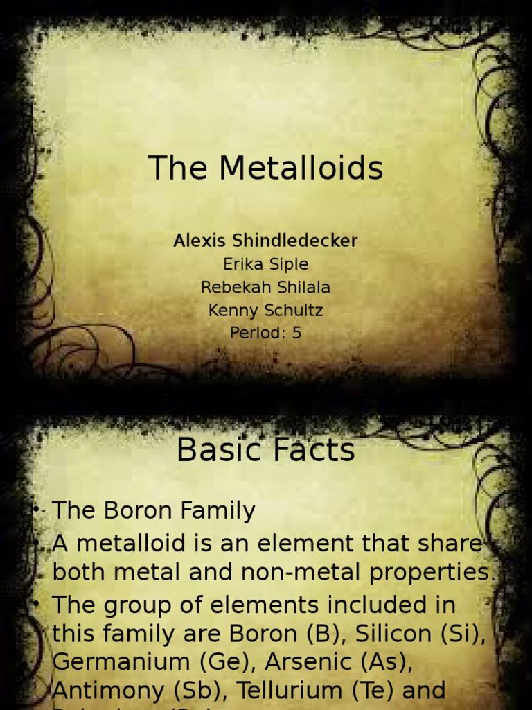 Final Metalloid Germanium Boron