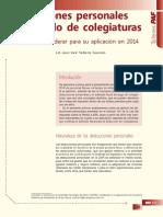 Deducciones Personales y Estímulos de Colegiaturas. Aspectos a Considerar Para Su Aplicación en 2014