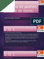 Sistema gestion base datos