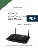 User Manual VG-8050