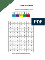 Bateria Estimulacion Cognitiva Identifica LAS LETRAS y Colorea Nivel Avanzado 10