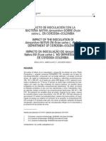 Impacto de Inoculación Con La Bacteria Nativa Azospirilum Sobre Oryza Sativa l. en Córdoba–Colombia