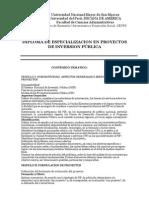Syllabus Proyectos Inversion Publica 2014