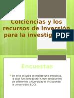 Conciencias y los recursos de inversión para la investigación