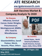 Global – Adult Vaccines Market & Company Analysis to 2020