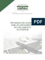 Unifesp - Cartilha de orçamento