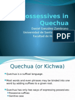 Possessives in Quechua