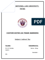 Trade Barriers and Custom Duty
