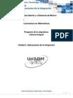 Unidad 2. Aplicaciones de La Integración