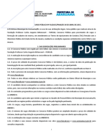 Edital Do Concurso Público Da Prefeitura de Araruama - 2015
