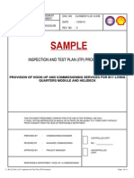 3.0 Inspection & Test Plan