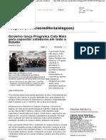 Governo Lança Programa Cata Mais Para Capacitar Catadores Em Todo o Estado - TNH1 - O Portal de Notícias de Alagoas