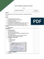 Checklist Membantu Pemasangan Bidai (Splint)