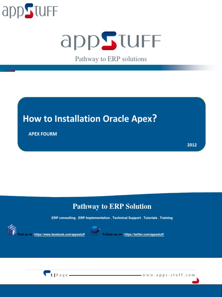 how install oracle apex oracle database web server rh scribd com Oracle 10G Documentation Oracle 10G Tutorials