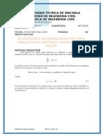 Investigacion Metodo de Prediccion y Correccion