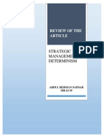 Strategic Management & Determinism