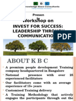 KBC WORKSHOP ON INVEST FOR SUCCESS
