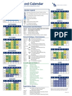 green yellow yearly lincoln calendar 2014-15