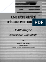 Dubail René - Une Expérience d'Économie Dirigée L'Allemagne Nationale-Socialiste