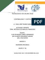 Reporte Métodos Análisis Financiero