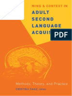 Adult Second Language Acquisition