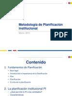 Metodología de Planificación Institucional No. 3 Sfggdf