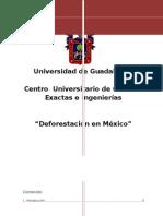Deforestacion en Mexico