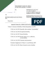 Appendix 15, 31 FlaJur2d Insurance-Disability 11p