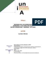 Defensa de DH y Culltura Política Argentina