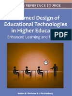 Informed Design of Educational Technologies in Higher Education Enhanced Learning and Teaching