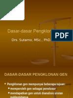 Bioteknologi 5 Dasar Pengklonan Gen