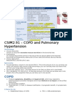 CSIM2.91 – COPD and Pulmonary Hypertension