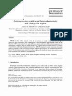 Autoregressive  conditional  heteroskedasticity and  changes  in  regime