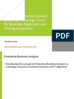 Enterprise Business Analysis - Strategic Asset for Business Alignment and Driving Innovation