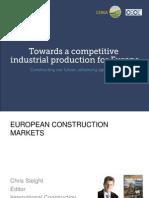 CECE-CEMA Economic Forum - Chris Sleight - European Construction Markets