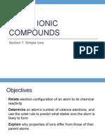 Grade 9 - Ionic Bonding