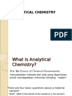 Analytical Chemistry Lecture1(2012)