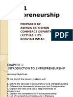 PB 201-Chapter 1-Intro to Entrepreneurship