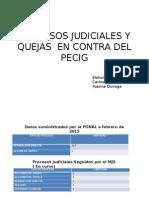 Procesos Judiciales y Quejas en Contra Del Pecig
