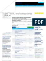 Axapta Forum - Microsoft Dynamics AX Forum - Dynamics User G