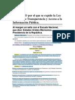 Ley General de Acceso a La Transparencia y a La Información