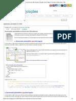 Numeracao Automatica Excel